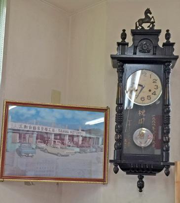 年代物の壁掛け時計